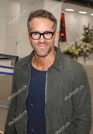 Ryan Reynolds at Narita International Airport
