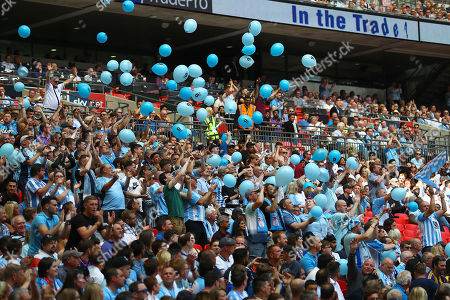 Stock Picture of Coventry City fans release balloons to remember Cyrille Regis