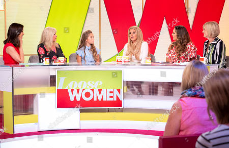 Andrea McLean, Samantha Fox, Rosie McClelland and mum Danielle, Kelly Brook and Jane Moore