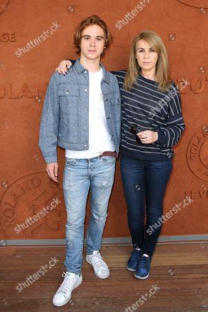 Valerie Kaprisky and her nephew