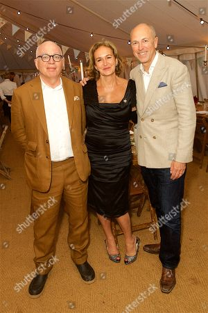 Michael Wolff, Caroline Michel and Dylan Jones