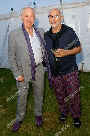 Simon Schama and Alan Yentob
