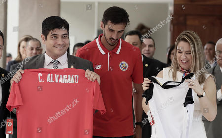 Carlos Alvarado, Claudia Dobles and Bryan Ruiz