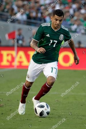 Mexico's Jesus Manuel Corona plays against Wales during the second half of their soccer match in Pasadena, Calif. The match ended in a 0-0 tie