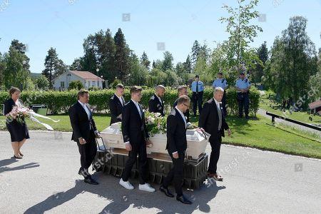 The coffin of Barbro Svensson