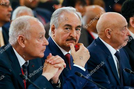 Khalifa Haftar and Aguila Saleh Issa