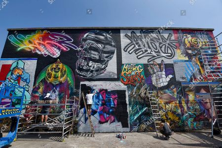 Editorial image of 'Meeting of Styles' street art festival, London, UK - 28 May 2018