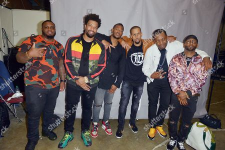 Actor / Comedian Fat & Funny, DeRay Davis, Marlon Wayans, Affion Crockett, Majah Hype and Shawty Shawty backstage