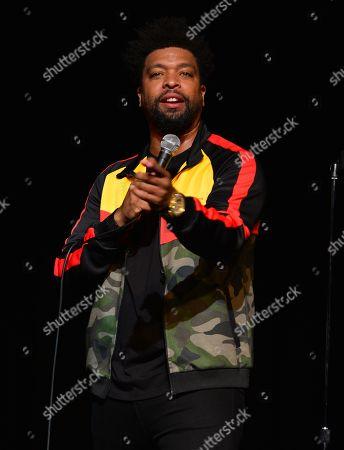 Actor / Comedian DeRay Davis performs onstage