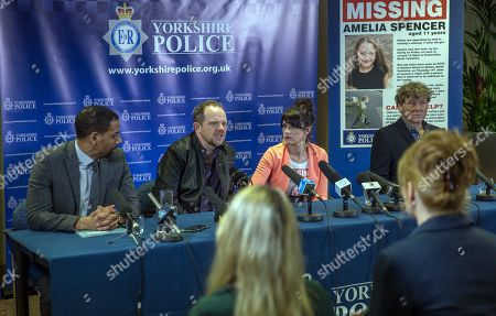 Ep 8178 & Ep 8179 Friday 15th June 2018 DS Benton, as played by Justin Pierre, asks Kerry Wyatt, as played by Laura Norton, and Dan Spencer, as played by Liam Fox, to make a televised appeal to help with Amelia's disappearance.