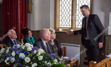 Ep 8171 Friday 8th June 2018 Whilst Lachlan White goes on a mission to retrieve the comic from Terry's, as played by Daniel Casey, room. But will he succeed in finding the incriminating works? With Eric Pollard, as played by Christopher Chittell ; Faith Dingle, as played by Sally Dexter ; Diane Sugden, as played by Elizabeth Estensen.