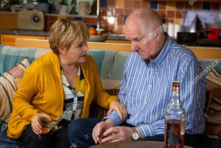 Ep 8178 & Ep 8179 Friday 15th June 2018 Brenda Walker, as played by Lesley Dunlop, takes pity on Doug Potts, as played by Duncan Preston, but will pity turn into a passionate embrace?