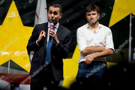 Leader of 5 Stars Movement Luigi Di Maio, Alessandro Di Battista