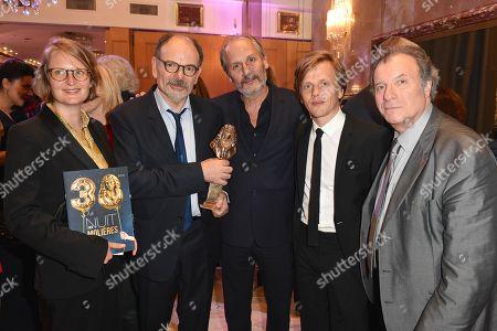 Jena Pierre Darroussin, Hippolyte Girardot, Alex Lutz and Daniel Russo.