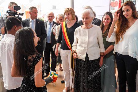 Queen Paola and Francoise Schepmans