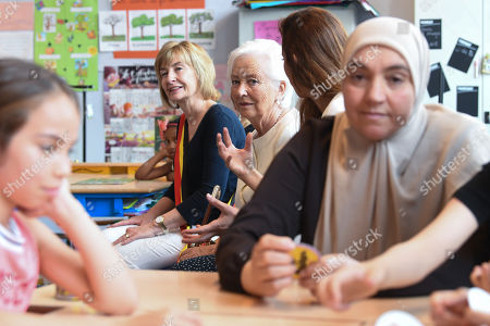 Editorial picture of Queen Paola visit to Arc-En-Ciel school, Brussels, Belgium - 29 May 2018