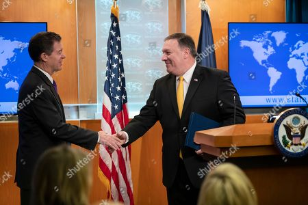 Mike Pompeo, Sam Brownback. Secretary of State Mike Pompeo releases the annual U.S. assessment of religious freedom around the world, at the State Department in Washington, . He is joined by Ambassador-at-Large for International Religious Freedom Sam Brownback