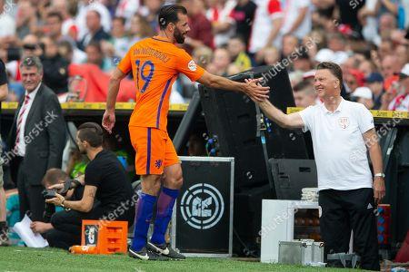 Ruud van Nistelrooy of Holland, Coach Louis Van Gaal of Holland
