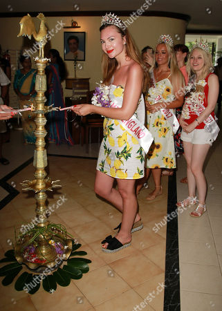 Rachel Pitman Miss Hertfordshire 2017 visiting Ratnaloka Tour Inns and nearby nearby gem mine