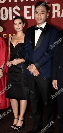 Stock Image of Virginie Ledoyen with chineses actor Liu Ye
