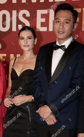 Stock Picture of Virginie Ledoyen with chineses actor Liu Ye
