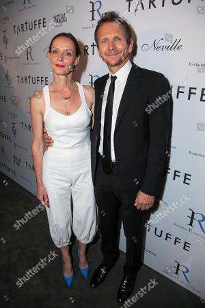 Claude Perron (Dorine) and Sebastian Roche (Orgon)