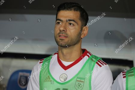 Iran's Pejman Montazeri during a friendly soccer match between Turkey and Iran, in Istanbul