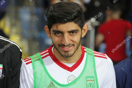 Iran's Mehdi Torabi prior to a friendly soccer match between Turkey and Iran, in Istanbul