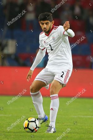 Iran's Mehdi Torabi duuring a friendly soccer match between Turkey and Iran, in Istanbul