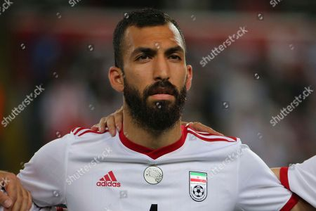 Iran's Rouzbeh Cheshmi prior to a friendly soccer match between Turkey and Iran, in Istanbul
