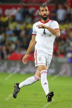 Alireza Safar Beiranvand. Iran's Rouzbeh Cheshmi during a friendly soccer match between Turkey and Iran, in Istanbul