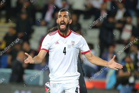 Iran's Rouzbeh Cheshmi during a friendly soccer match between Turkey and Iran, in Istanbul