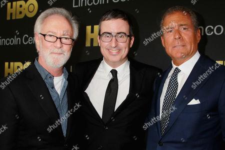 Gary Goetzman, John Oliver and Richard Plepler