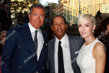 Richard Plepler, Bryant Gumbel and Hilary Gumbel