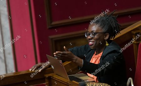 Daniele Obono during the weekly session of questions to the government at the National Assembly.