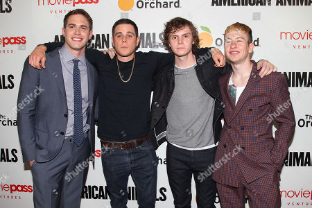 Blake Jenner, Jared Abrahamson, Evan Peters and Barry Keoghan