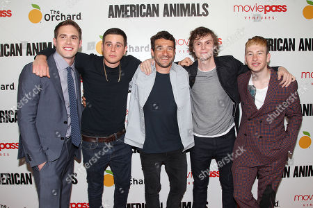 Blake Jenner, Jared Abrahamson, Bart Layton (Writer, Director), Evan Peters and Barry Keoghan