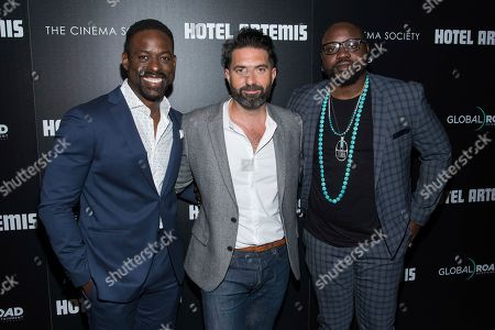 Sterling K. Brown, Drew Pearce and Brian Tyree Henry