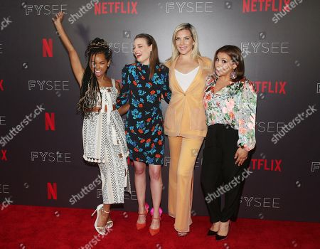 Logan Browning, Gillian Jacobs, June Diane Raphael and Justina Machado