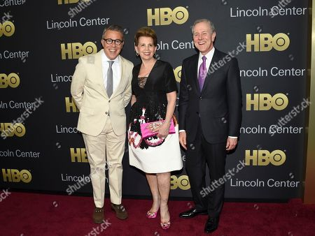 Stock Photo of Russell Granet, Adrienne Arsht, Steve Swartz. Executive vice president of Lincoln Center for the Performing Arts Russell Granet, left, gala co-chair Adrienne Arsht and Hearst president and CEO Steve Swartz attend the Lincoln Center for the Performing Arts American Songbook Gala at Alice Tully Hall, in New York