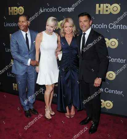 Bryant Gumbel, Hilary Gumbel, Kelly Ripa and Mark Consuelos