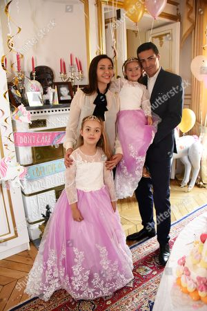 Princess Althea of Ligne-La Tremoille celebrates her 8th birthday with her sister Princess Athenais de Ligne-La Tremoille and her parents, Princess Isabella Orsini of Ligne-La Tremoille and Prince Edouard de Ligne de La Tremoille