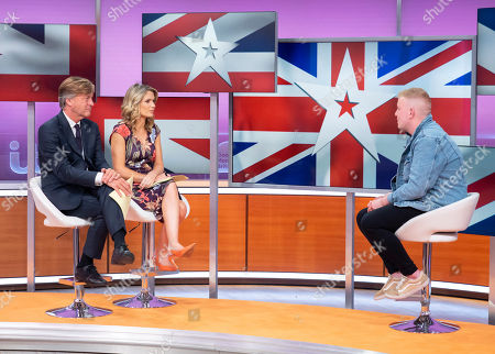 Stock Picture of Richard Madeley and Charlotte Hawkins with Gruffydd Wyn Roberts