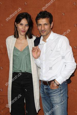 Marine Thierry and Kamel Belghazi at Le Village de Roland Garros