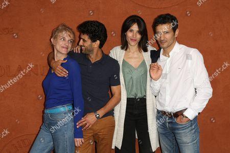 Olivia Côte, Salim Kechiouche, Marine Thierry and Kamel Belghazi at Le Village de Roland Garros