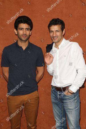 Salim Kechiouche and Kamel Belghazi at Le Village de Roland Garros