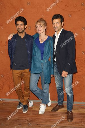 Salim Kechiouche, Olivia Côte and Kamel Belghazi at Le Village de Roland Garros
