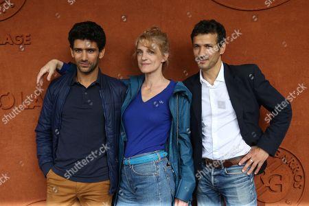 Stock Image of Salim Kechiouche, Olivia Côte and Kamel Belghazi at Le Village de Roland Garros