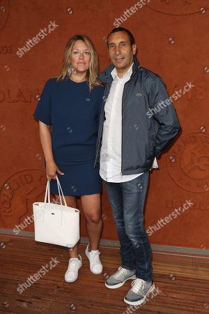 Zinedine Soualem and girlfriend Caroline Faindt at Le Village de Roland Garros