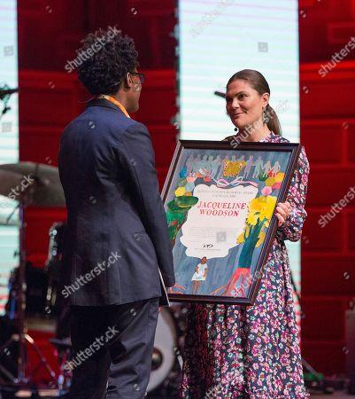Jacqueline Woodson, laureate of the 2018 Astrid Lindgren Memorial Award (ALMA), Crown Princess Victoria
